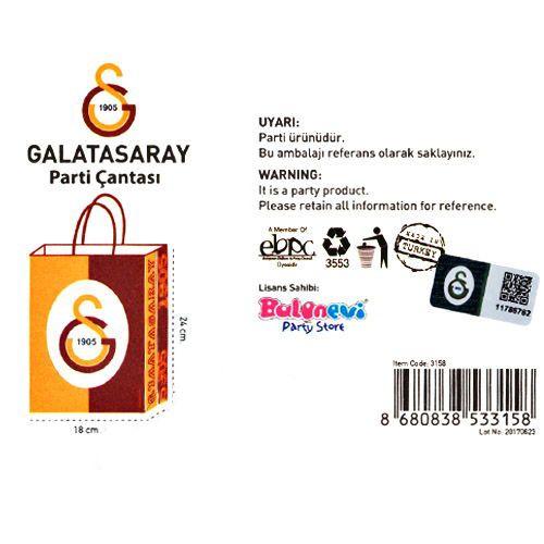 Galatasaray Kağıt Hediye Çantası 1 adet (18x24), fiyatı