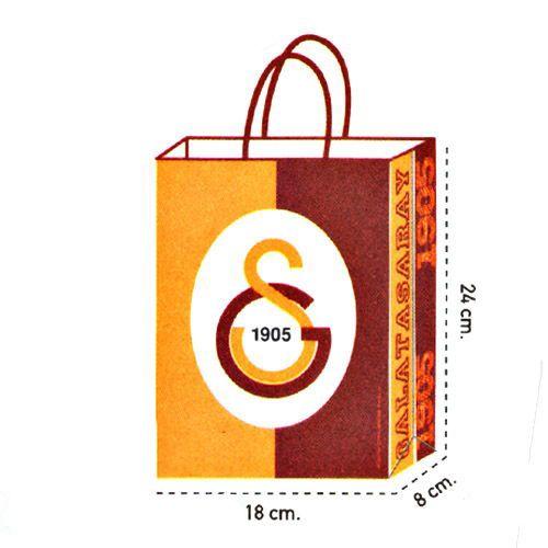 Galatasaray Kağıt Hediye Çantası 1 adet (18x24)