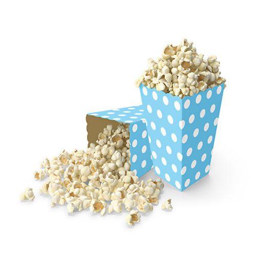 Popcorn Kutusu Mavi Puantiyeli (10 adet)