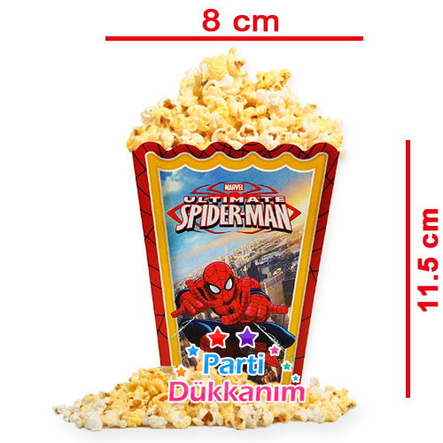 Spiderman Popcorn Kutusu (10 Adet)