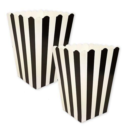 Siyah Üzeri Beyaz Çizgili Mısır Kutusu (10 Adet), fiyatı
