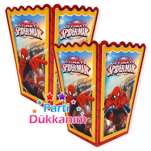 Spiderman Popcorn Kutusu (10 Adet), fiyatı