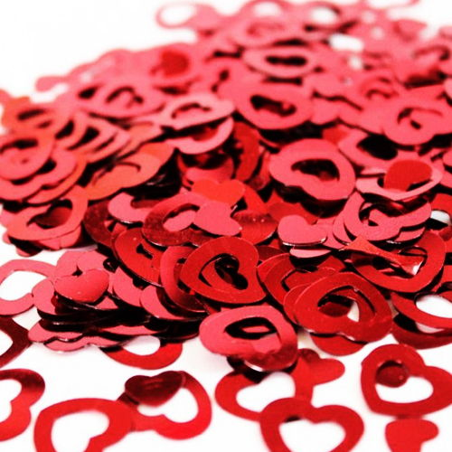Kırmızı Kalpli Masa Konfetisi
