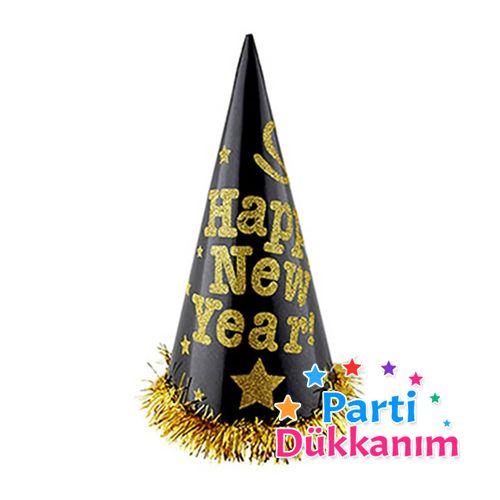 Yılbaşı Parti Şapkaları Happy New Year Büyük Boy (1 adet), fiyatı
