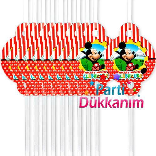 Mickey Mouse Körüklü Pipet (10 Adet)