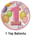 1 Yaş Kız Doğum Günü Parti Malzemeleri