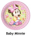 Baby minnie mouse parti malzemeleri