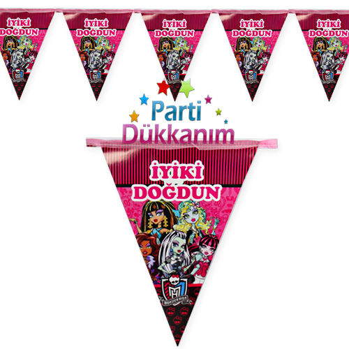 monster high flama bayrak set