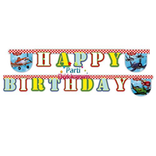 Planes happy birthday yazısı