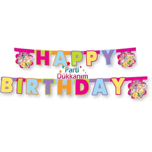 Tinkerbell happy birthday yazısı