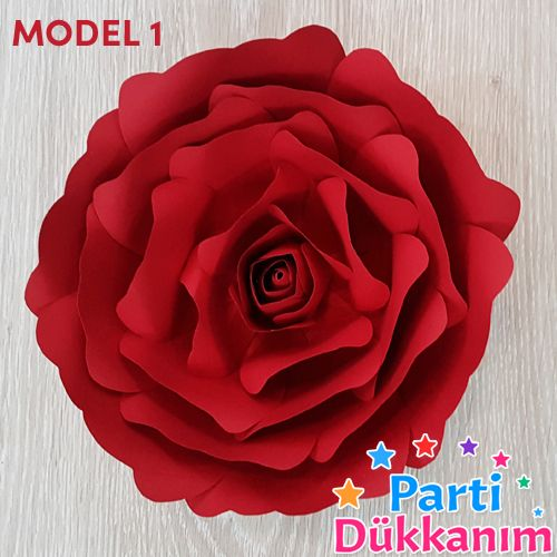 kırmızı kağıt gül çiçek goncalı