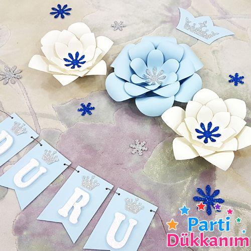frozen kağıt çiçek seti