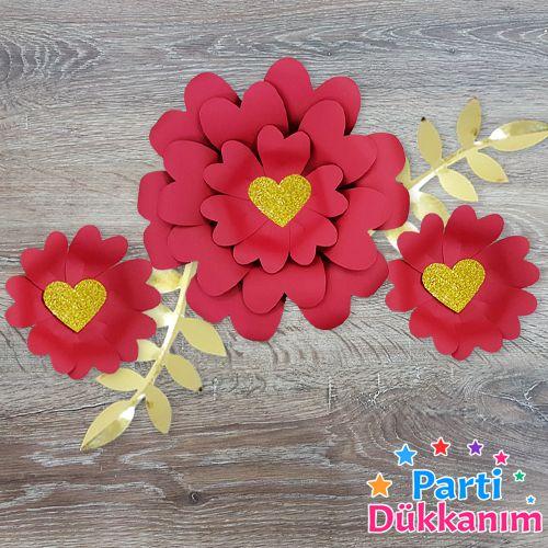 sevgiliye özel kağıt çiçek seti