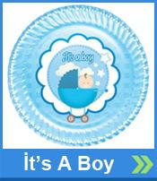 İta A Boy Baby Shower Parti Malzemeleri