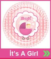 İta A Girl Baby Shower Parti Malzemeleri