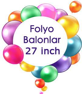 Folyo Balonlar 27 İnc