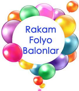 Folyo Rakam Balonlar