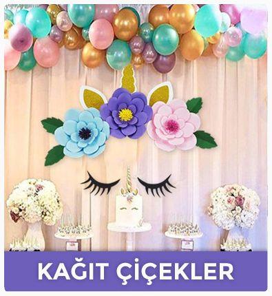dekoratif kağıt çiçek setleri