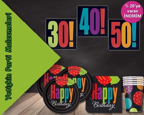 yetişkin doğum günü parti malzemeleri
