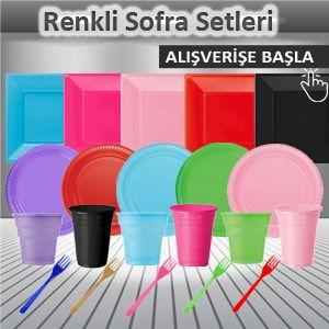 Sofra setleri renkli tabak bardak peçete masa örtüsü fiyatları çeşitleri en ucuz