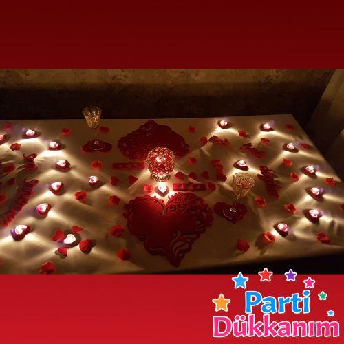 Sevgiliye Özel iki kişilik masa süsleme malzemeleri