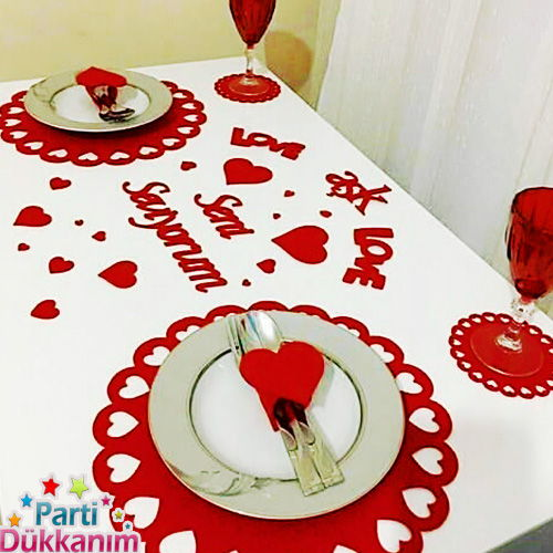 sevgiliye özel masa hazırlama