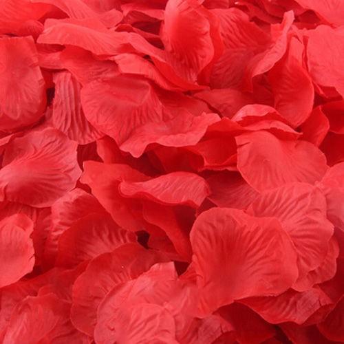 kırmızı yapay gül yaprakları