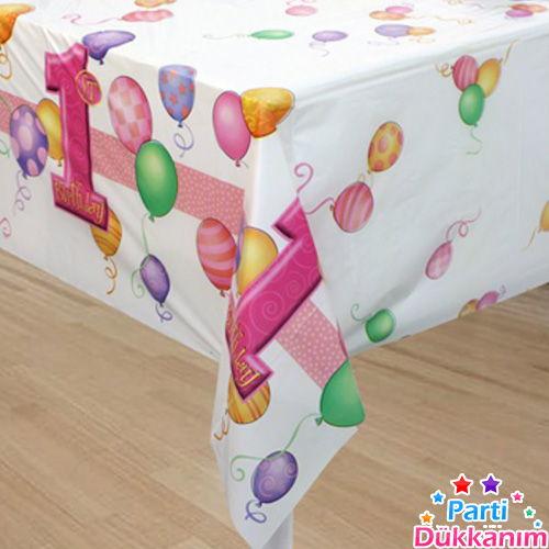1 yaş balonlu masa örtüsü