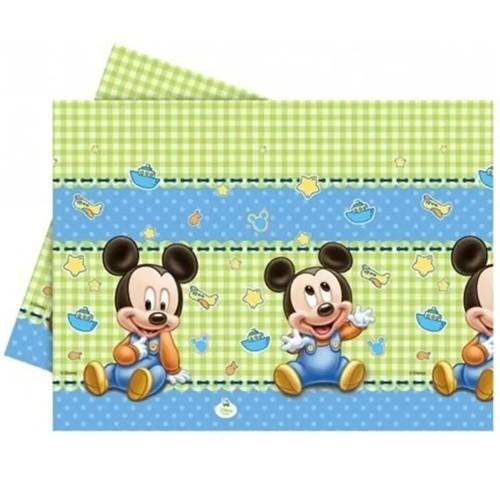 1 Yaş Baby Mickey Mouse masa örtüsü