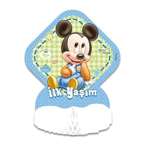 1 Yaş Baby Mickey Mouse masa orta süsü