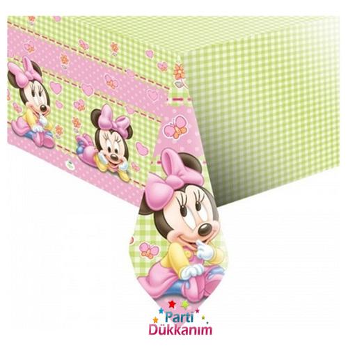 1 Yaş Baby Minnie Mouse masa örtüsü