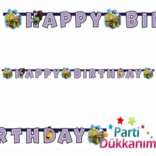 Arı Maya happy birthday banner