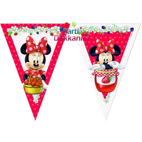 Minnie mouse jam flama bayrak set