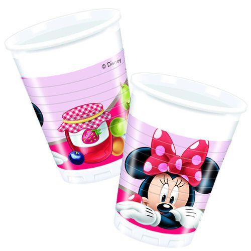 Minnie mouse jam bardak 8 adet