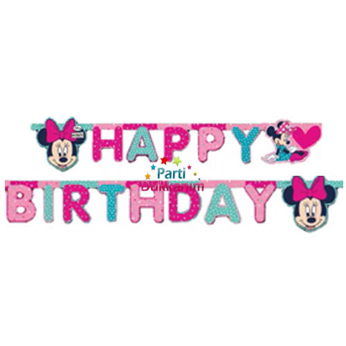 Minnie Mouse Süper Parti happy banner