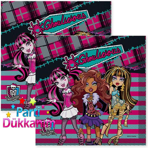 Monster high peçete