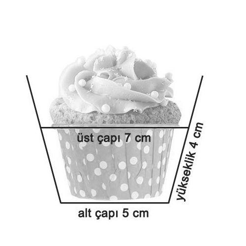 Muffin kek kapsülü ölçüleri