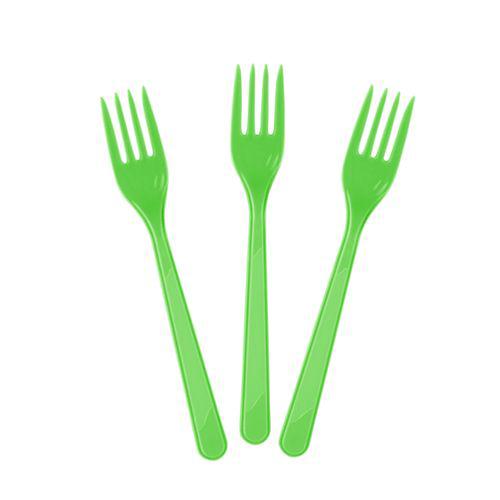 yeşil plastik çatal