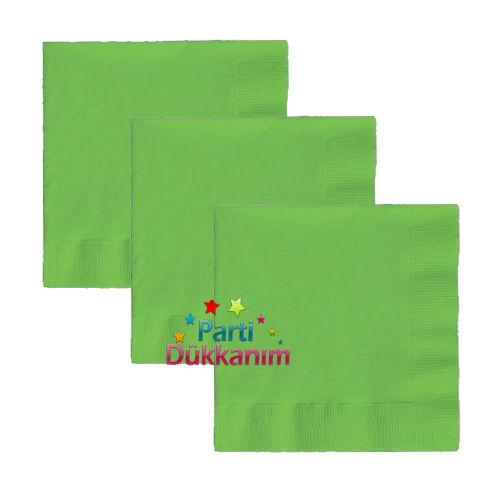 Yeşil plastik peçete