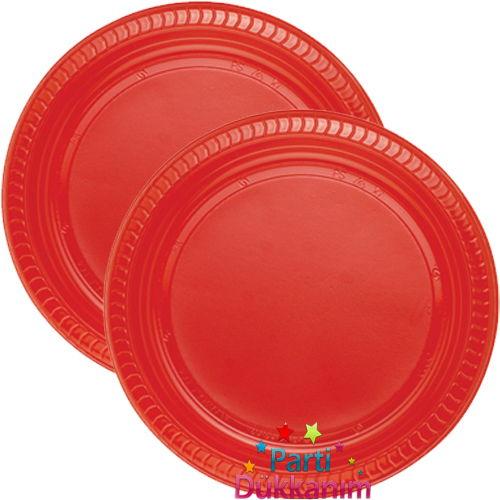 KırmızıPlastik tabak