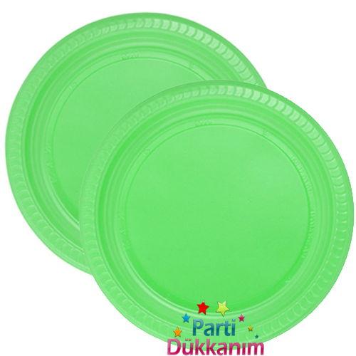 Yeşil plastik tabak