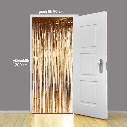 Işıltılı Folyo Kapı Duvar Süsü Püsküllü