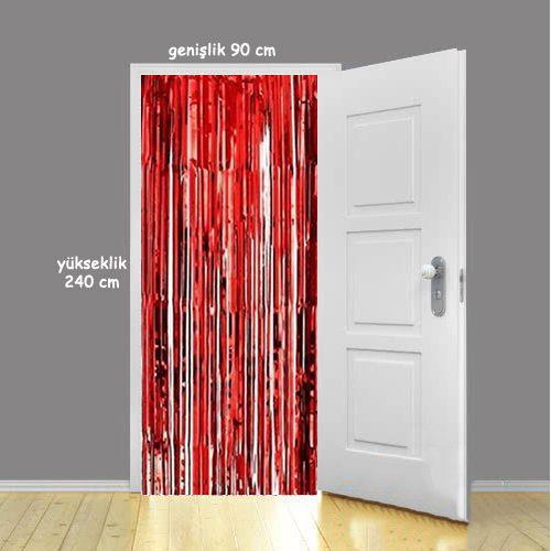 kapı perdesi kırmızı